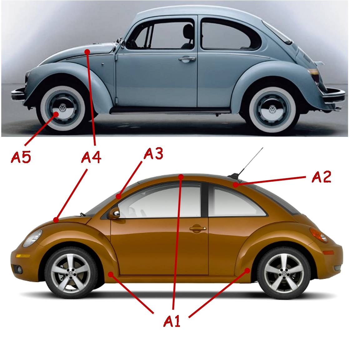 Design of beetle car -  Missed The Opportunity To Recreate Some Of The Basic Beetle Styling Cues By Choosing Not To Replicate The Embossed Pattern On The Hood Of The New Car